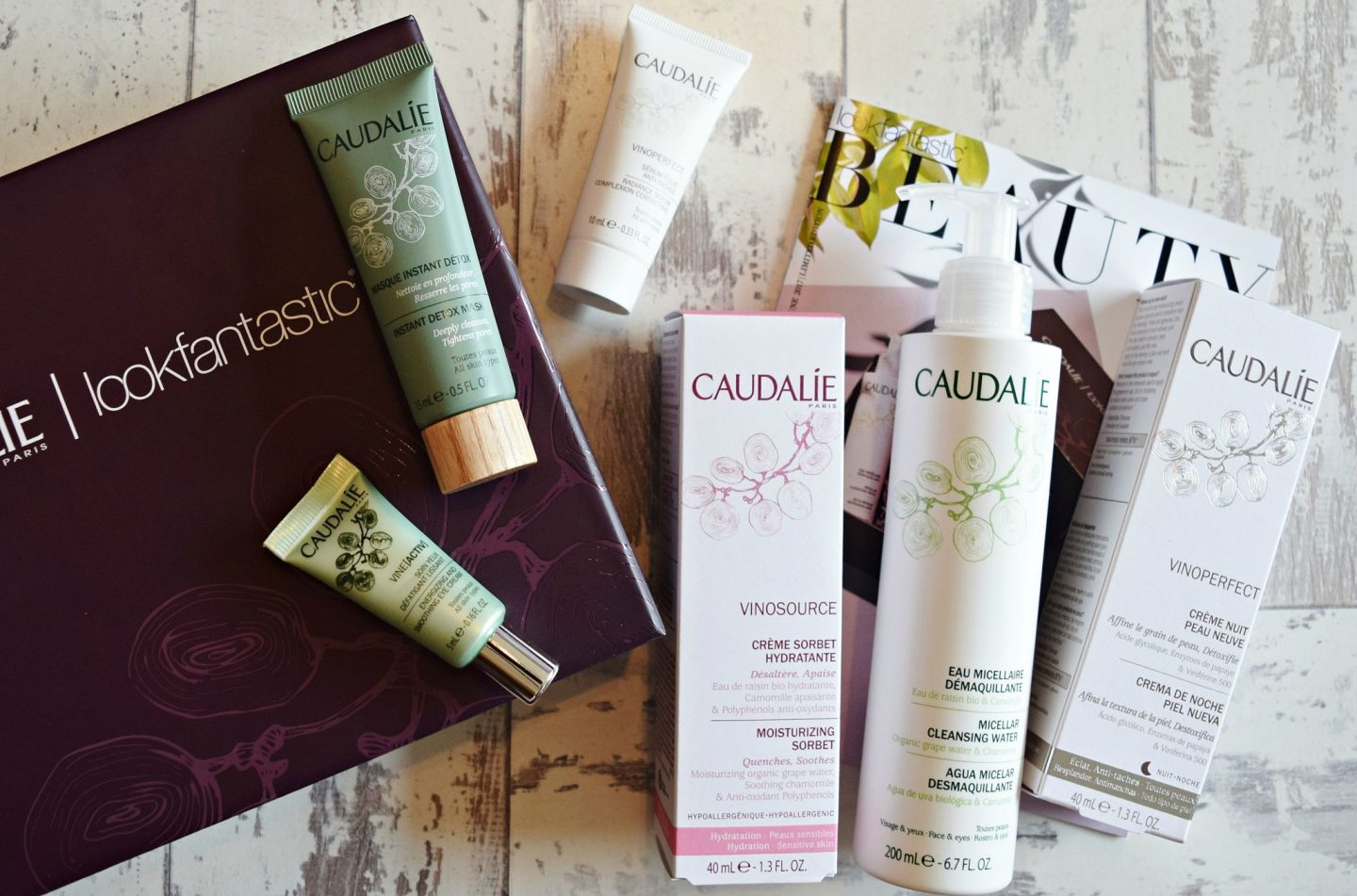 look fantastic caudalie limited edition box