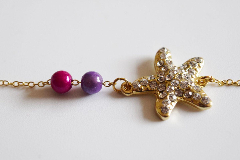 gold starfish jewellery