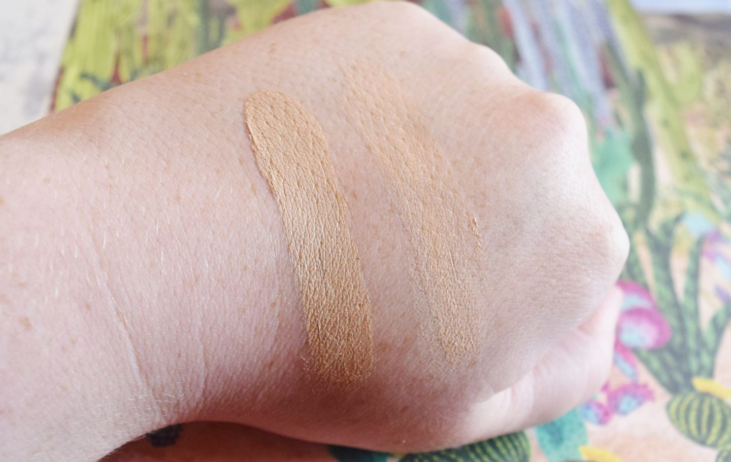 benefit cosmetics concealer hand swatches
