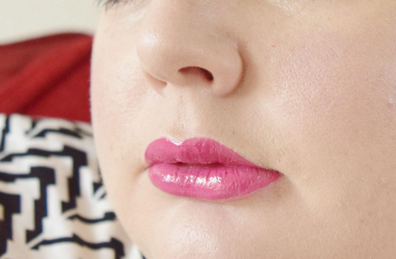 olivia hale lip gloss in blush swatch