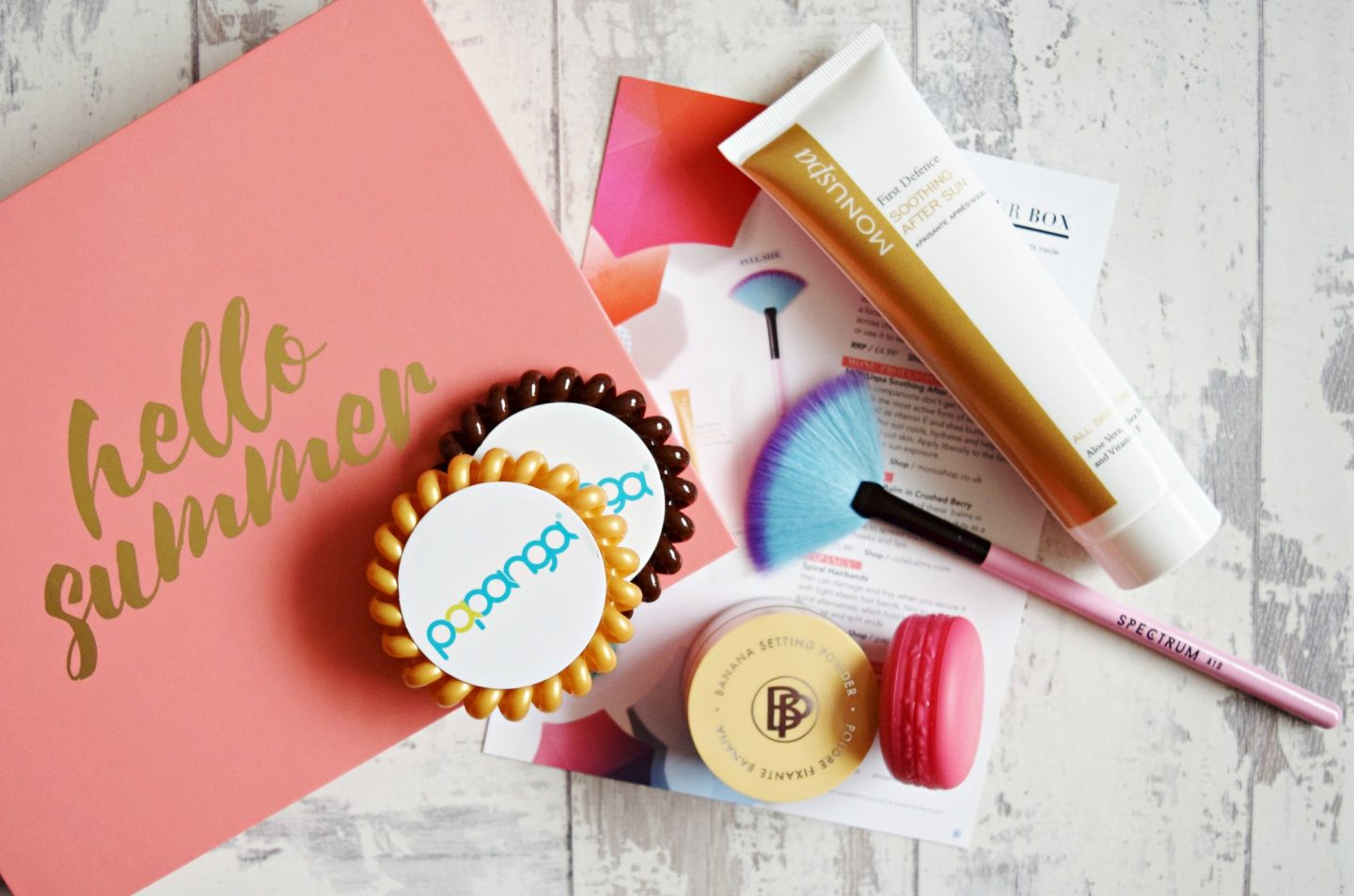 Glossybox July 2017 box contents
