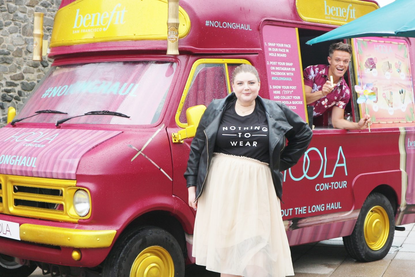 laura pearson-smith at benefit hoola con-tour van