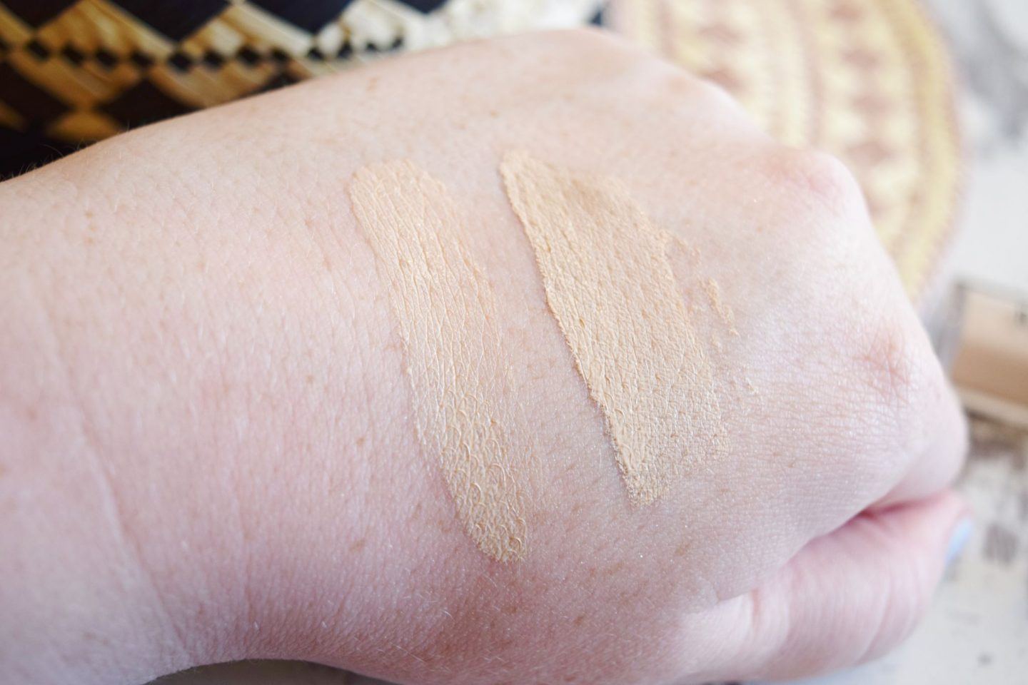 bobbi brown porcelain foundation and concealer swatches