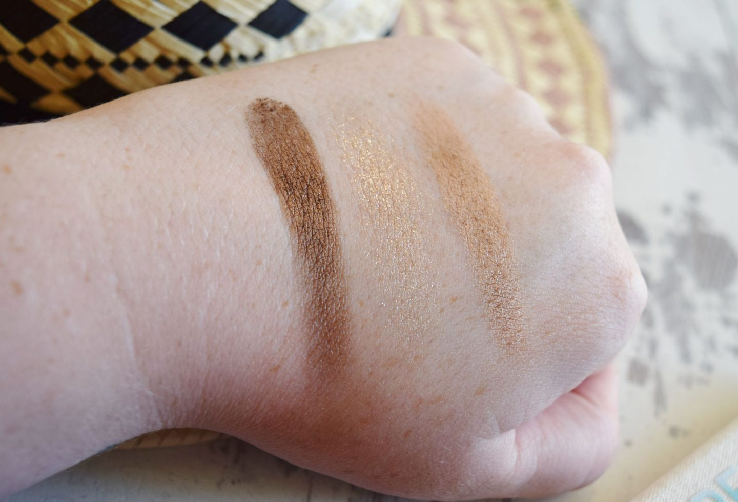 Peace, Love, Beach Limited Edition Eyeshadow Trio in Love swatches