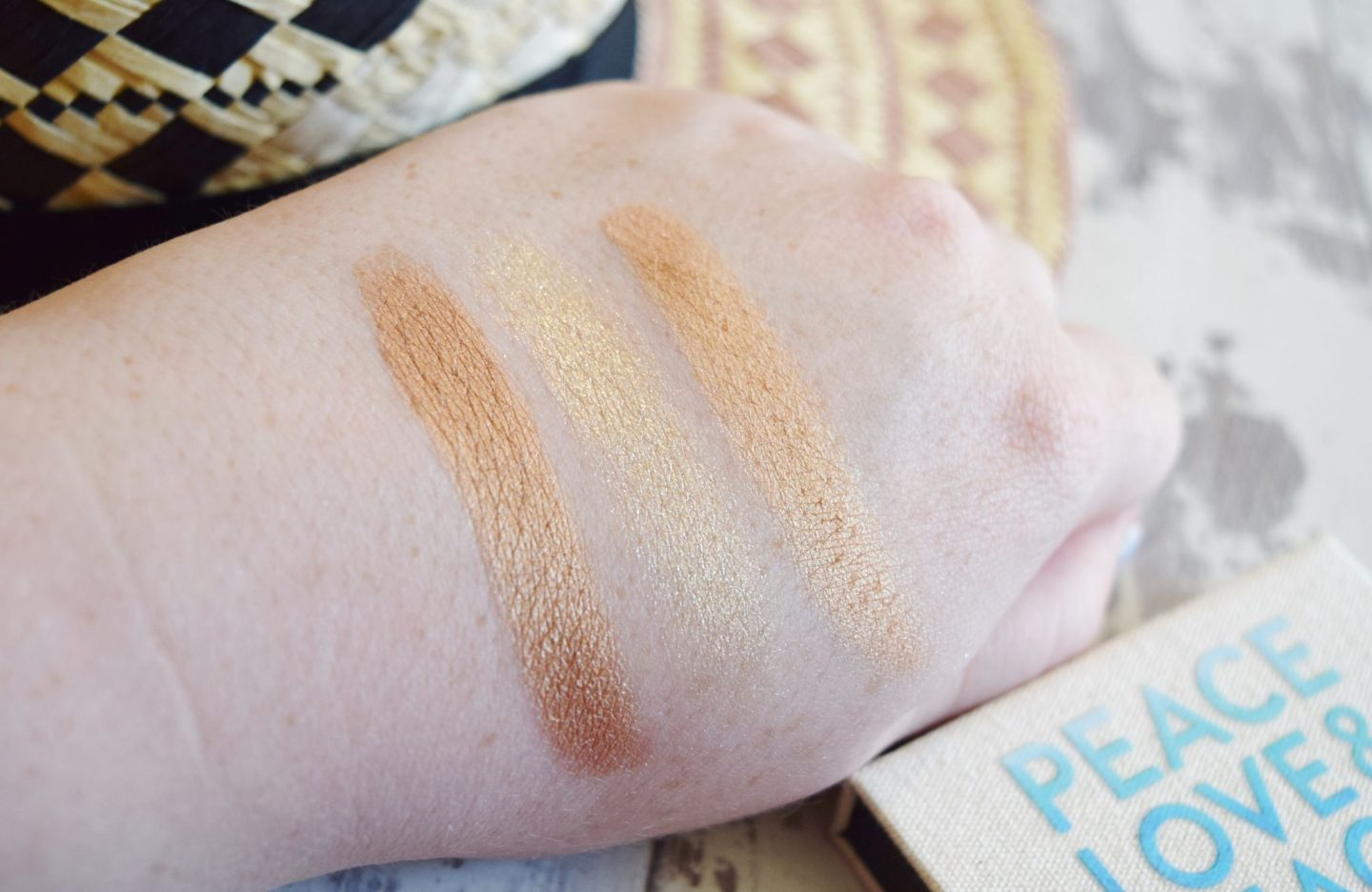 Peace, Love, Beach Limited Edition Eyeshadow Trio in Beach swatches