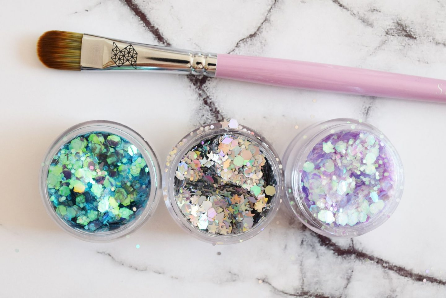 shine shack Ultimate Iridescent Collection glitters