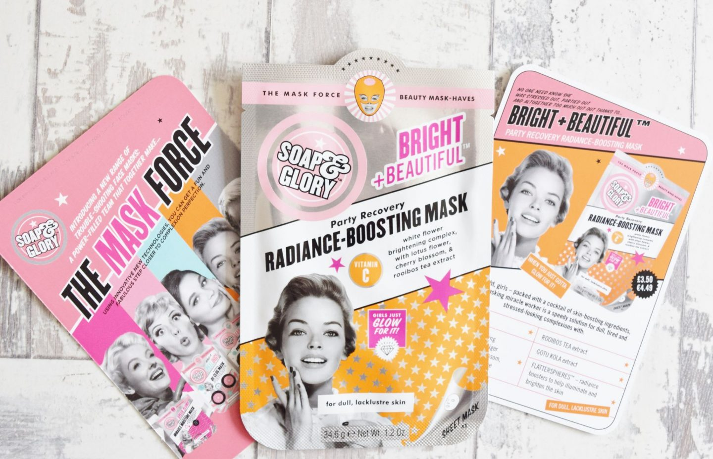 Soap & Glory Bright & Beautiful Party Recovery Radiance-Boosting Mask