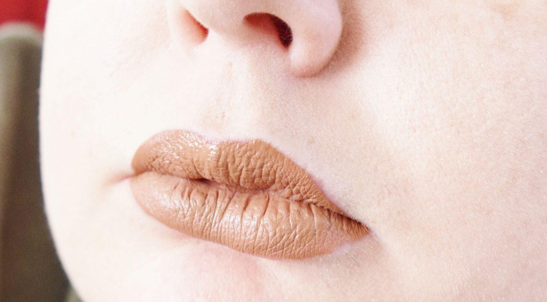 B. Makeup Matte Liquid Lipstick in In The Buff lip swatch