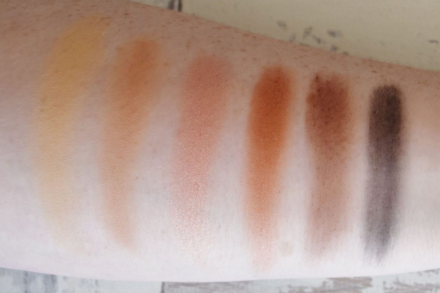 too faced natural love eyeshadow palette swatches