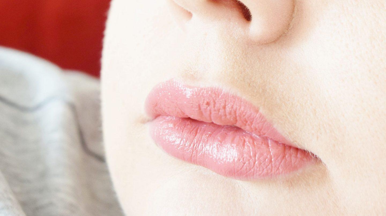 clarins joli rouge lipstick in 756 guava lip swatch