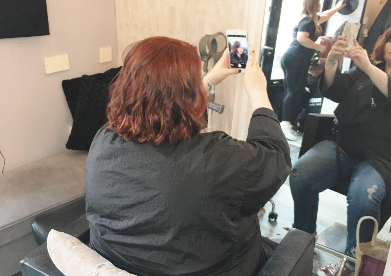 blogger selfie