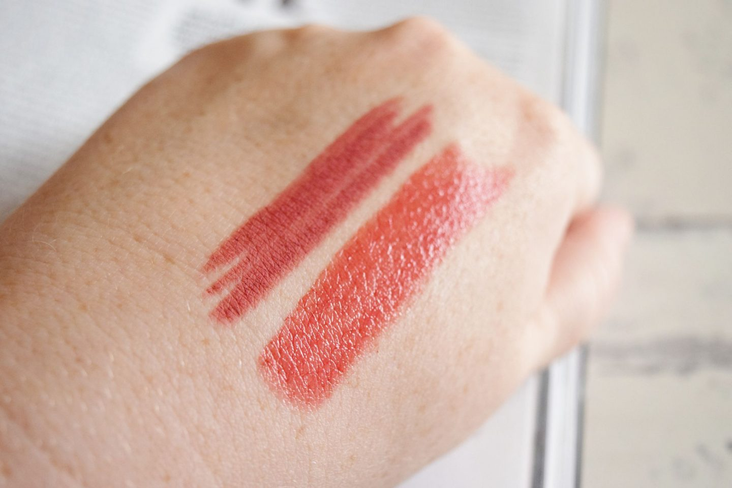Clarins Autumn 2017 Makeup Collection lip swatches
