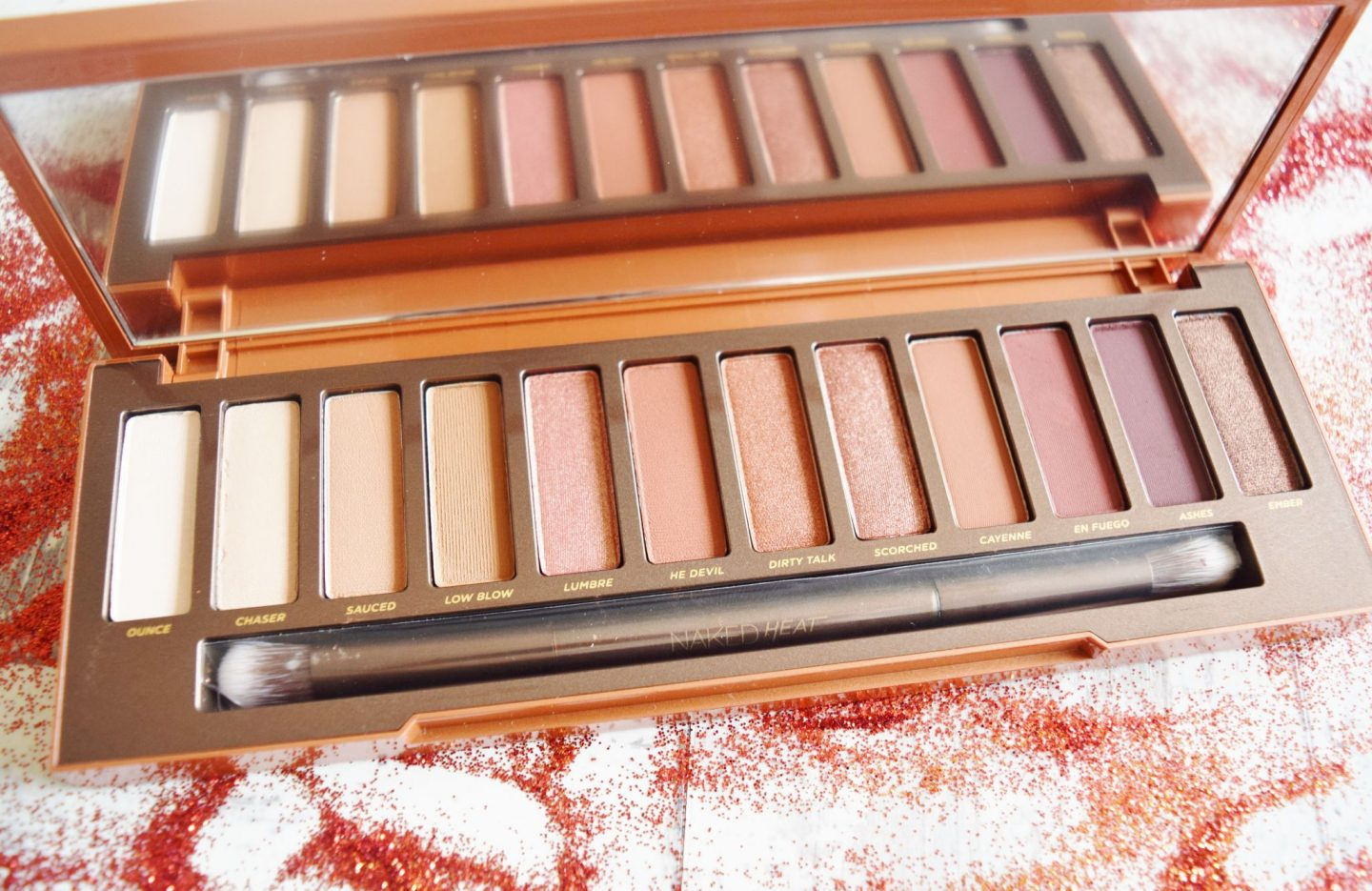 Urban Decay Naked Heat Palette shades