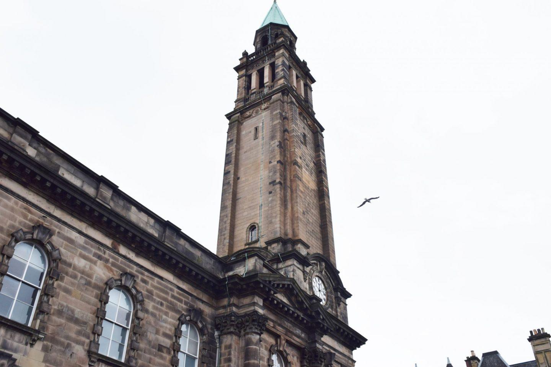 old stone steeple