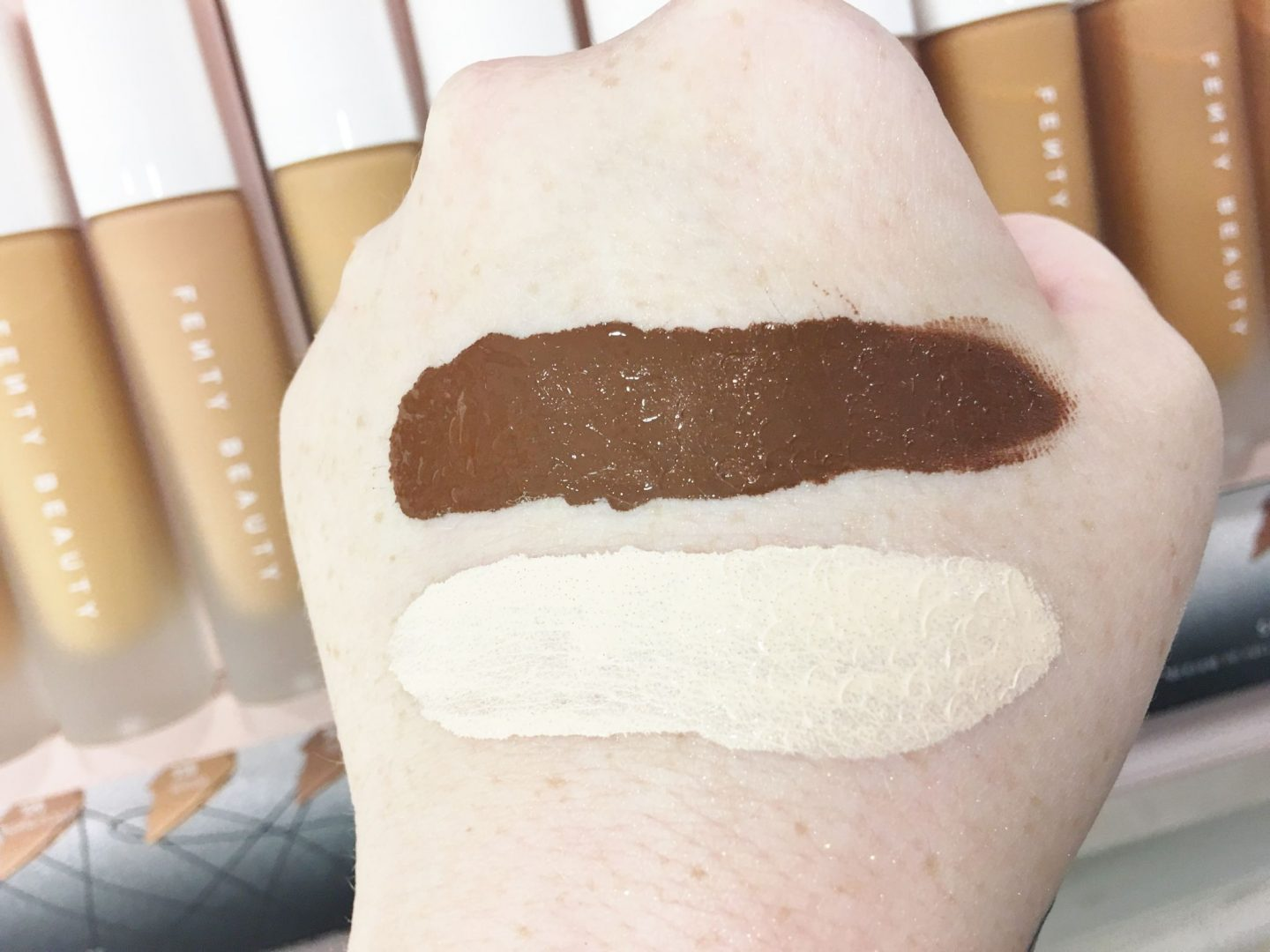 Pro Filt'r Soft Matte Longwear Foundation shade swatches