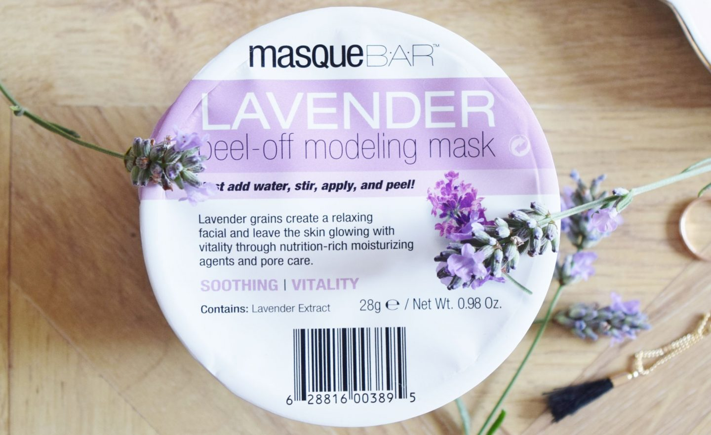 Masque Bar Lavender Peel-Off Modeling Mask