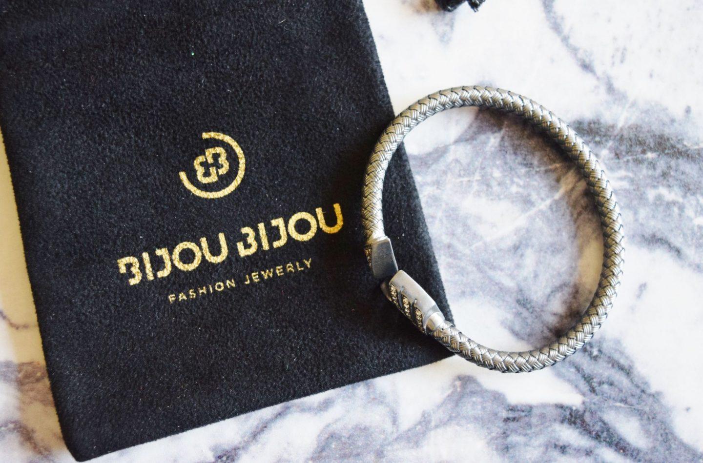 Bijou Bijou Silver Arrow White Crystal Bracelet