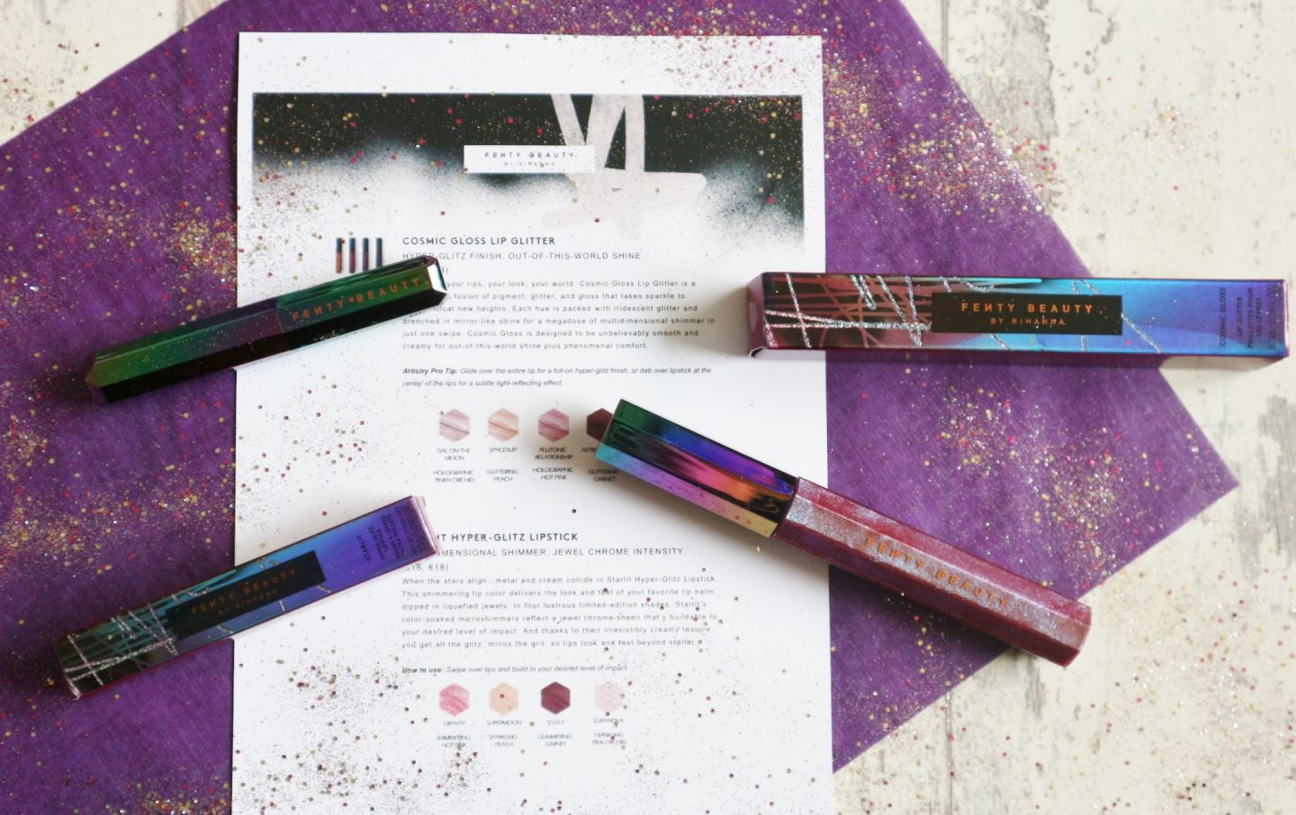 Fenty Beauty Galaxy Collection lip products