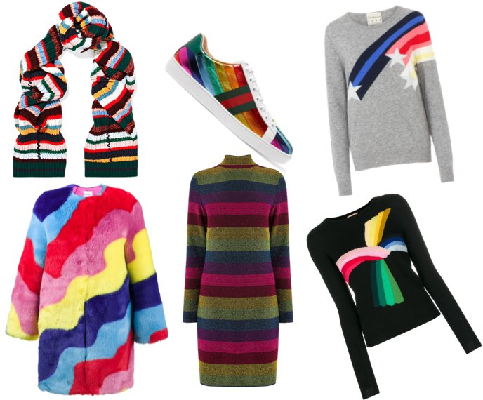 rainbow colourful fashion