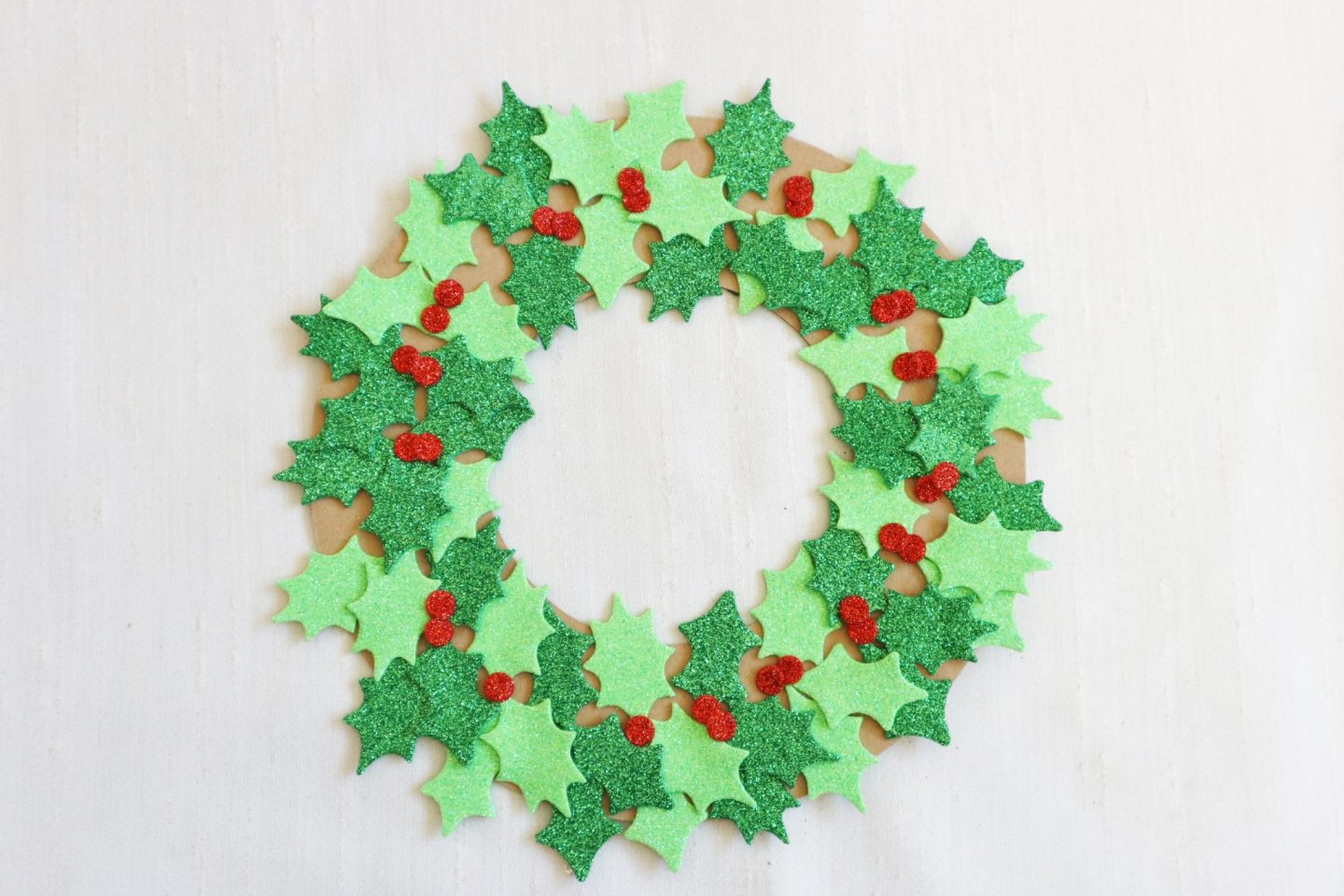 cardboard christmas wreath