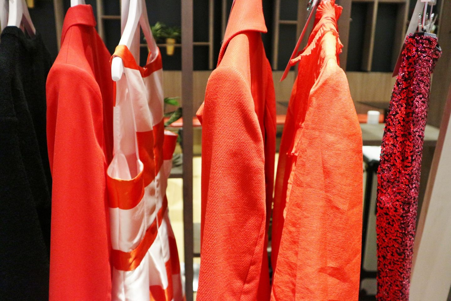 red clothes hanging