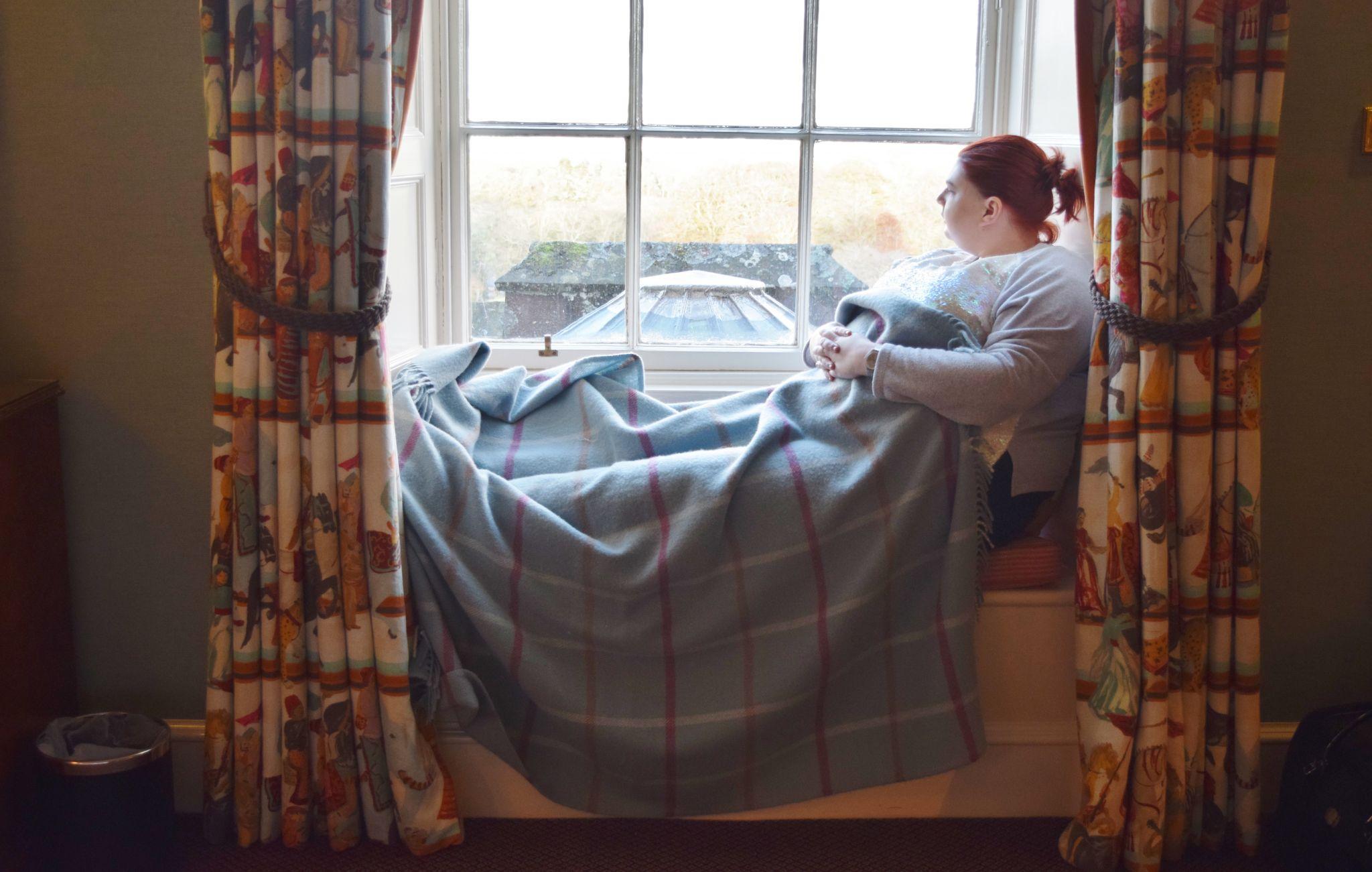laura in window