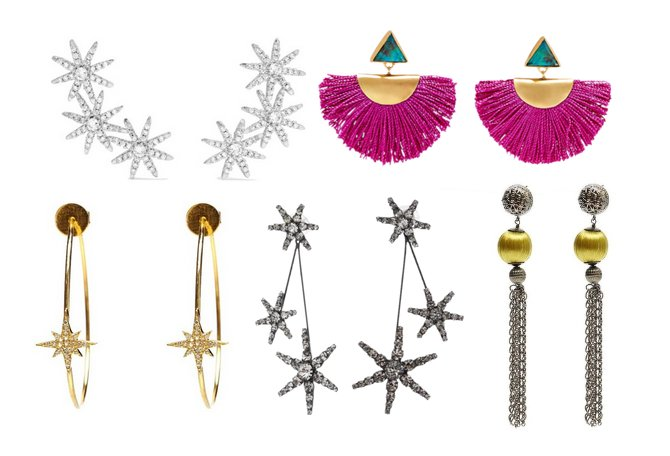 designer statement earrings
