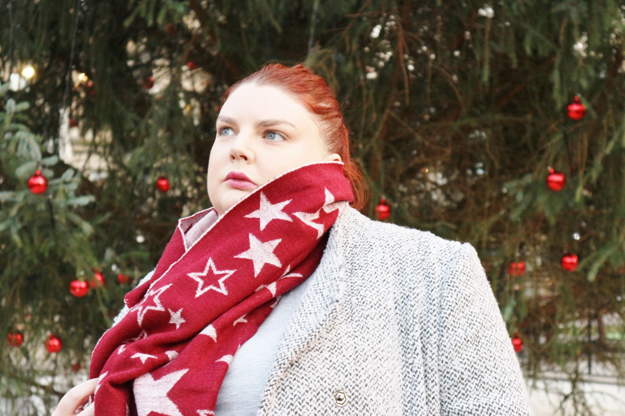 fat face star jacquard scarf