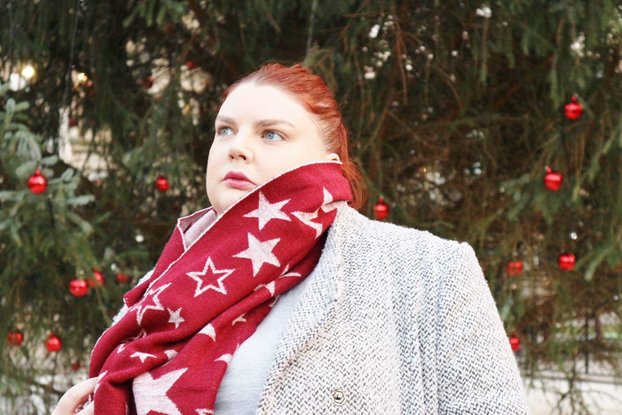 fat face star jacquard scarf