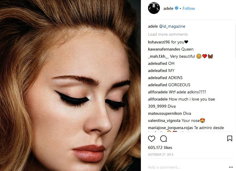 adele makeup instagram