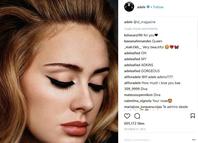 adele makeup instagram