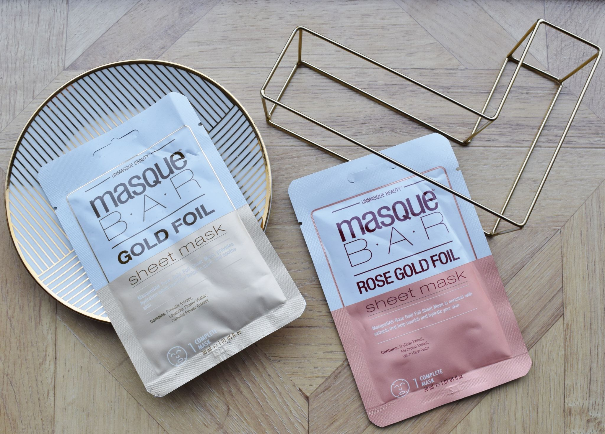 MasqueBAR Metallic Foil Sheet Masks