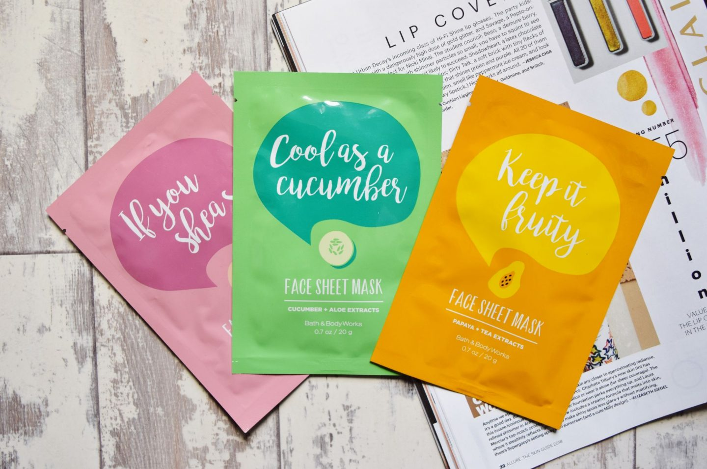 bath and body works sheet masks