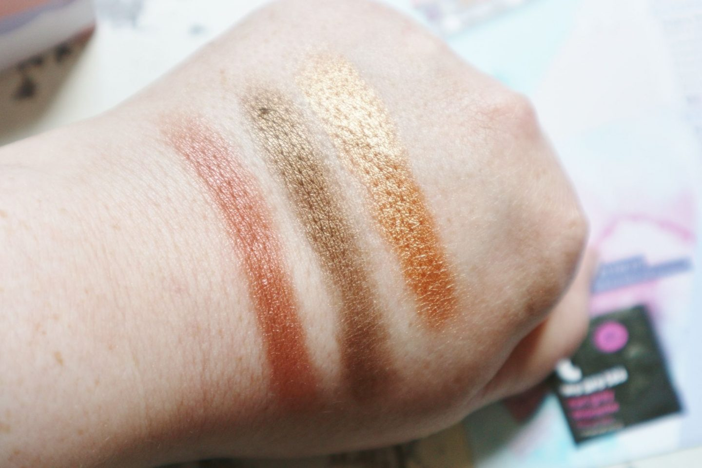 Trifle Cosmetics Praline Palette swatches