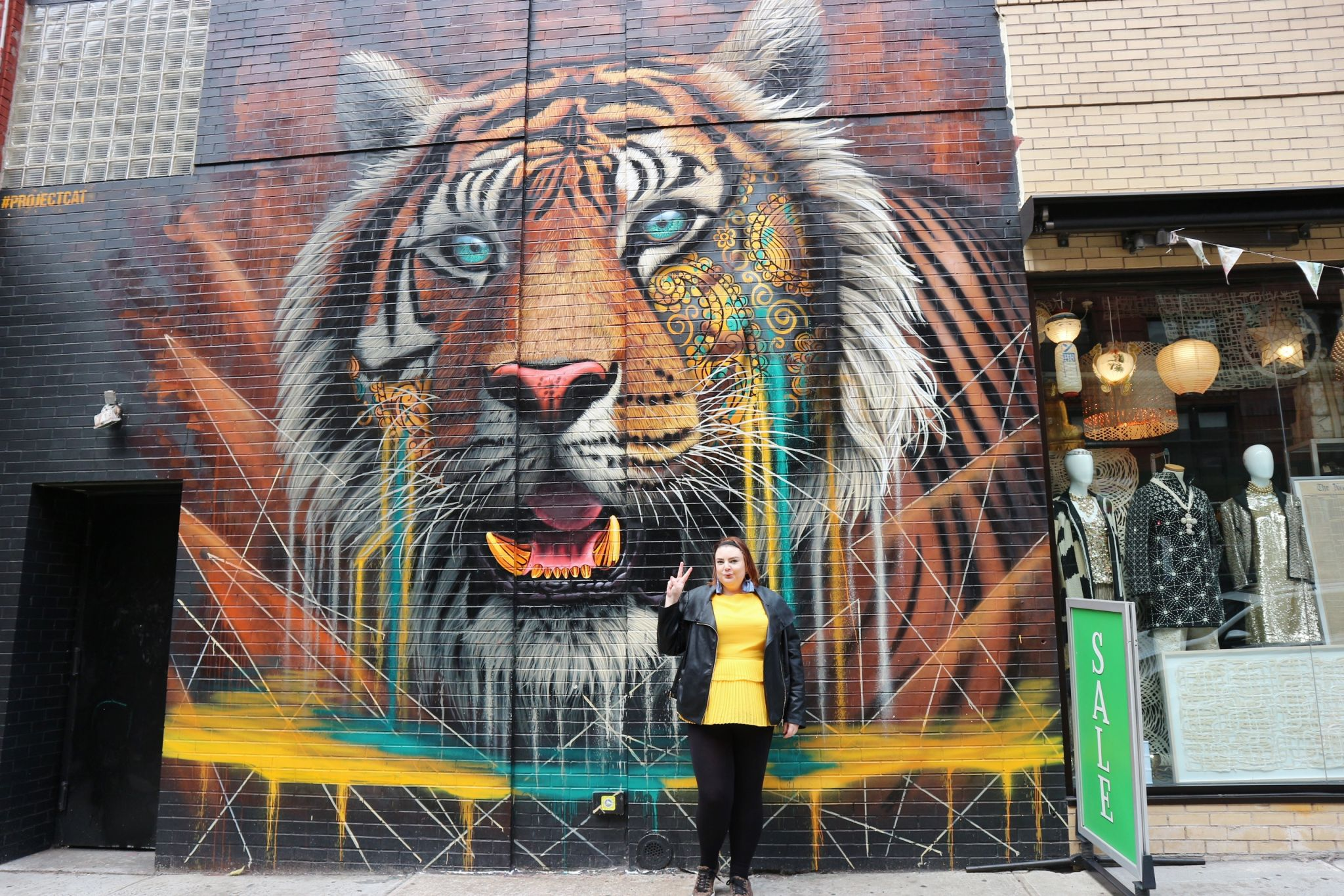 New York tiger mural