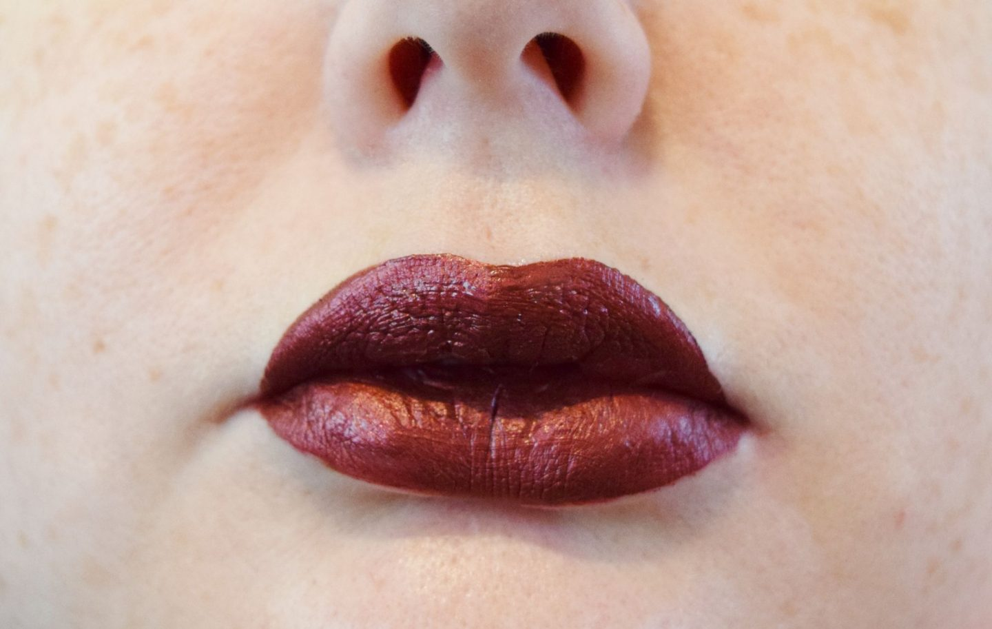 Smashbox Always On Metallic Matte Lipstick in Vino Noir swatch