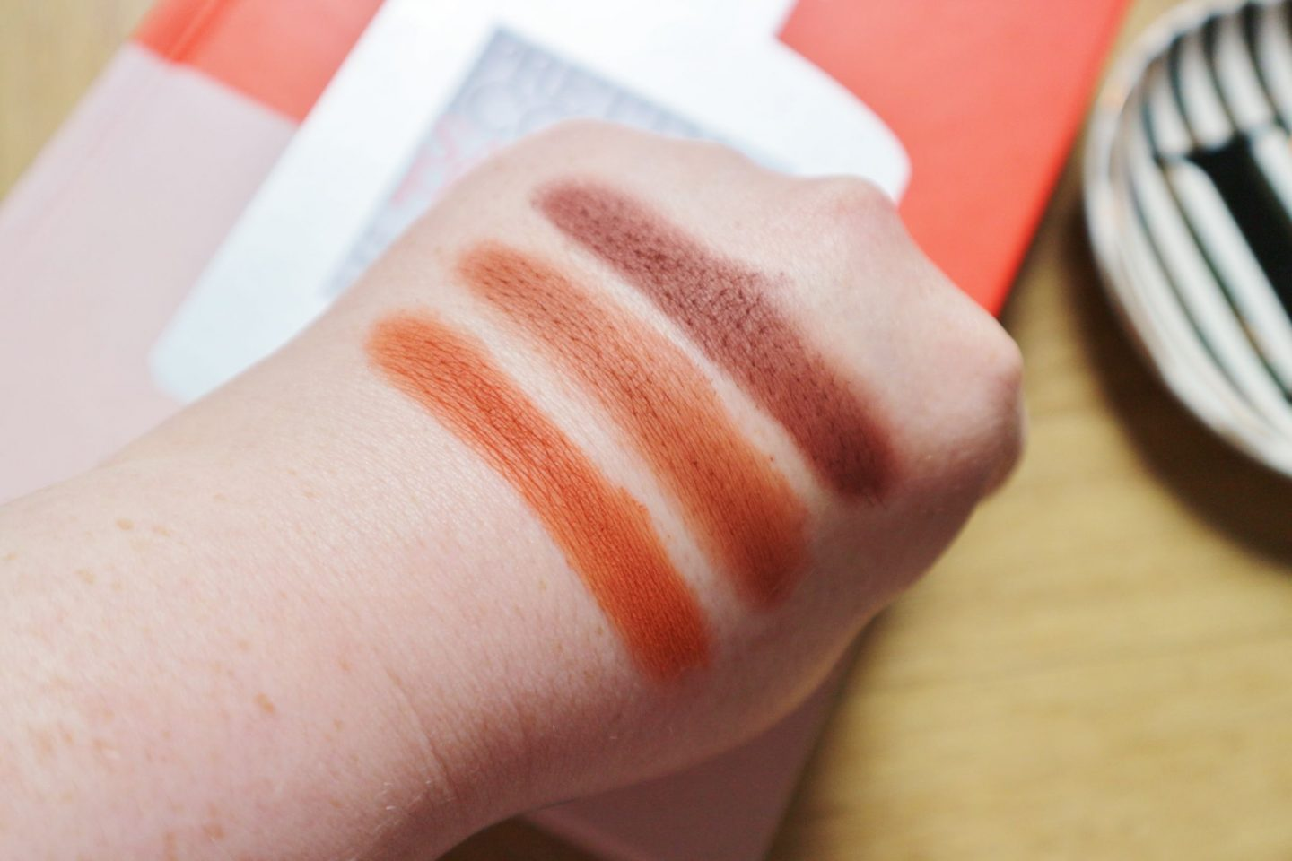 Urban Decay Naked Petite Heat palette swatched