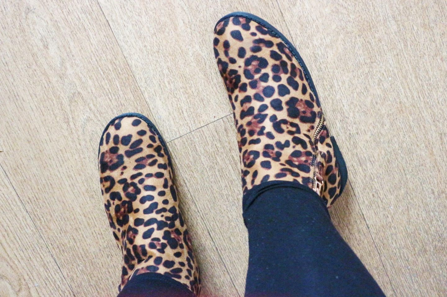 XY London Nicola Leopard Print Ankle Boots