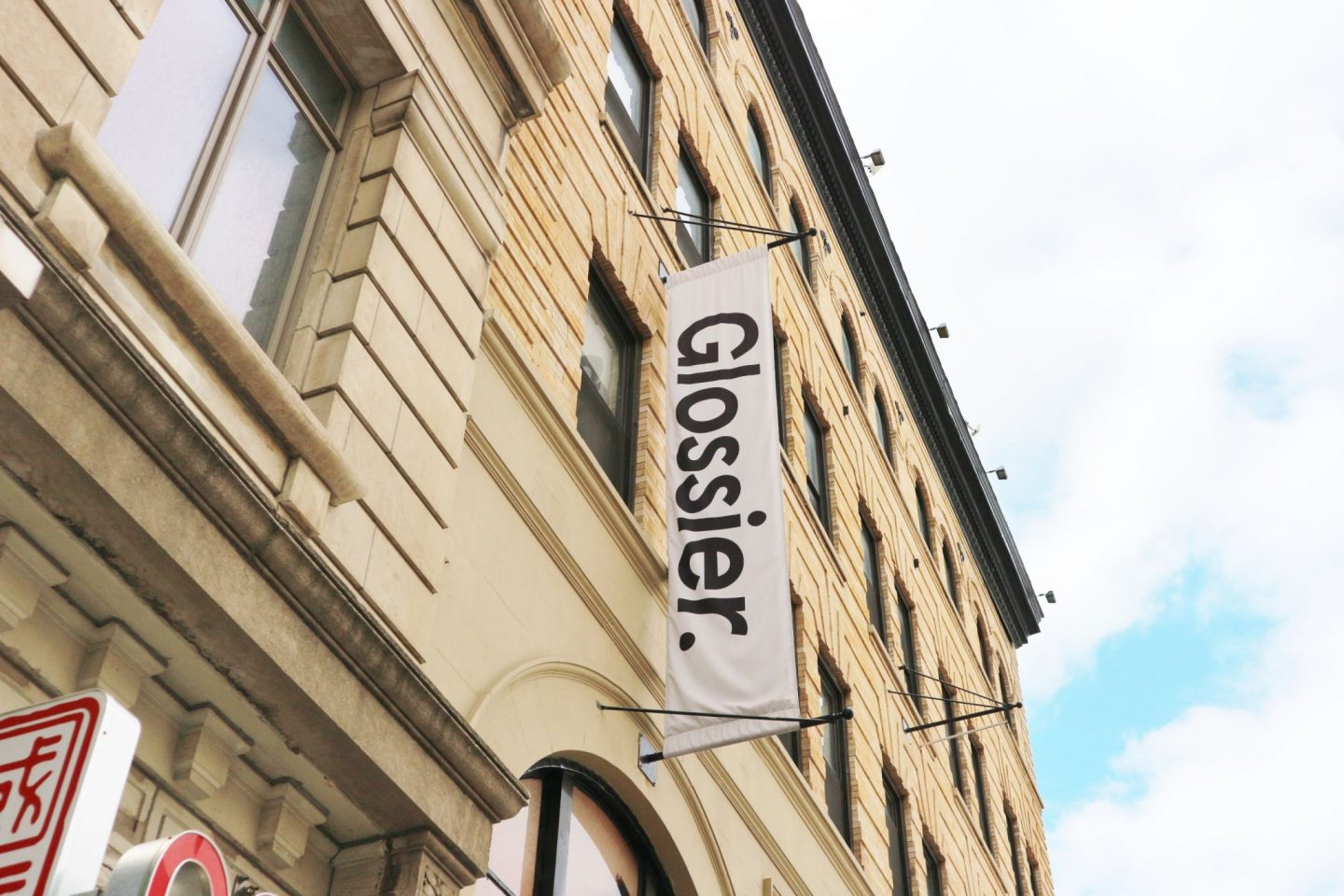 glossier showroom exterior