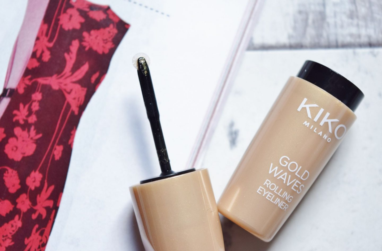 Kiko Milano Gold Waves Rolling Eyeliner in 01 Opulent Gold