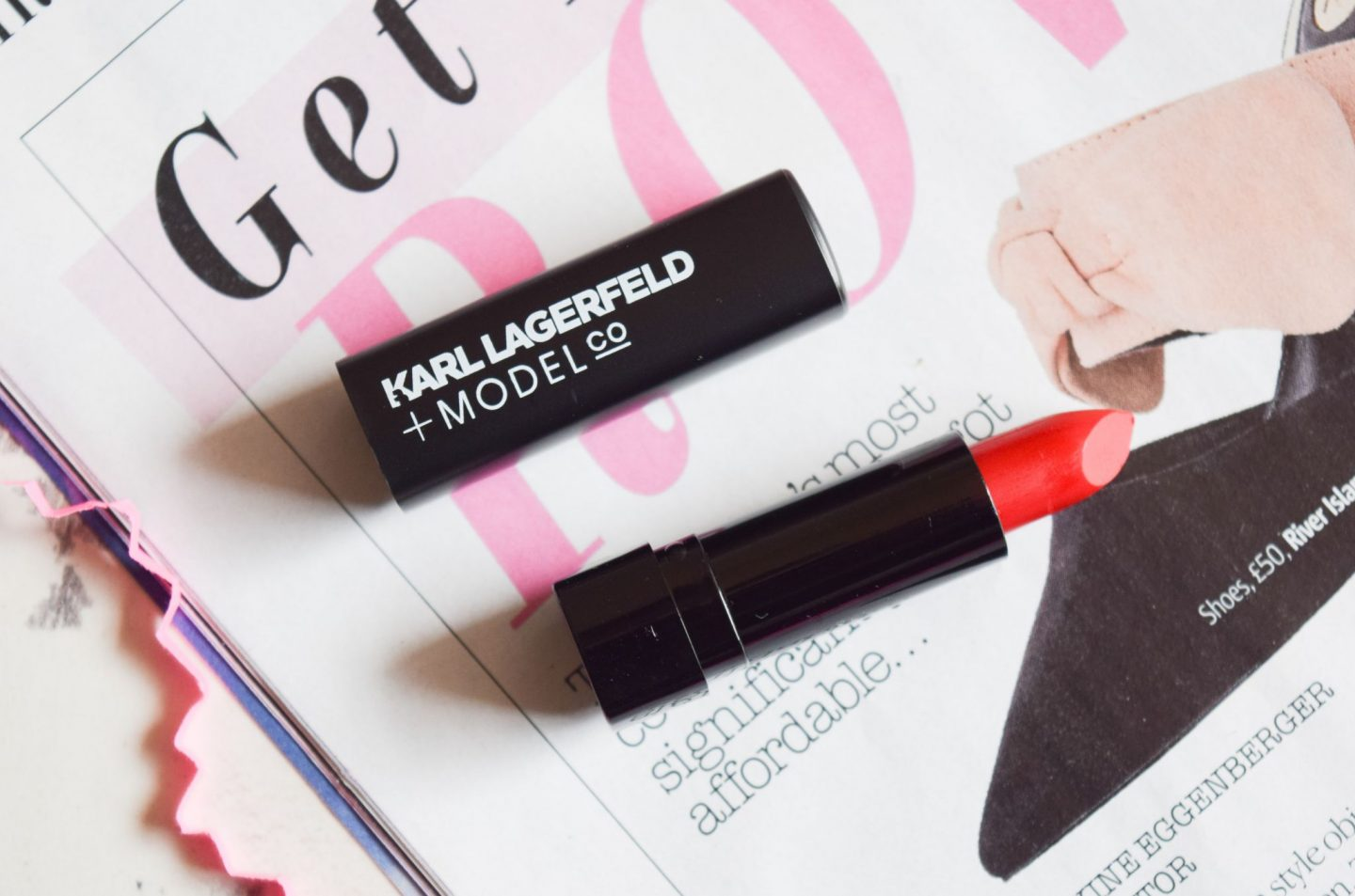 karl lagerfeld modelco lip couture lipstick in red