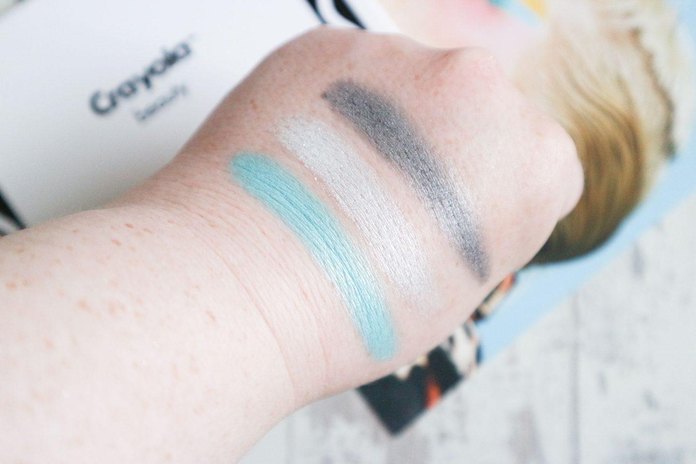 Crayola Eyeshadow Palette Mermaid swatches