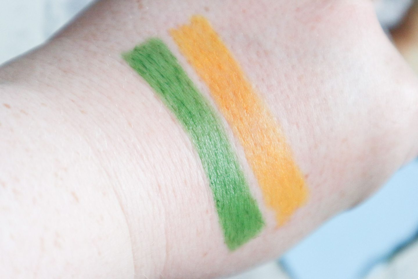 Crayola Face Crayon swatches