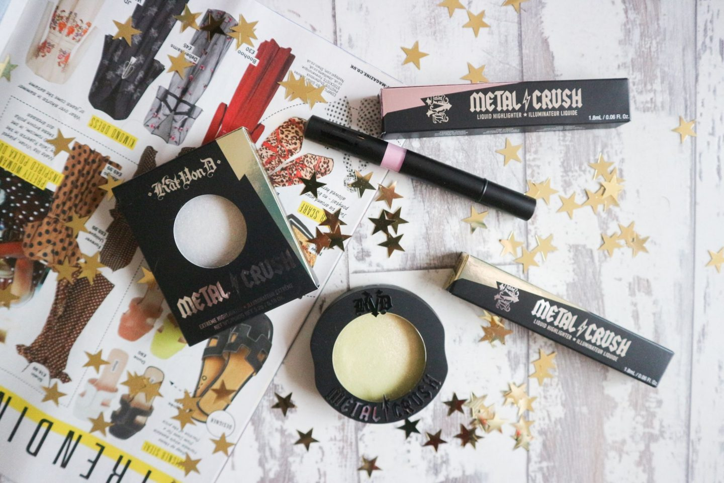 kat von d metal crush highlighters
