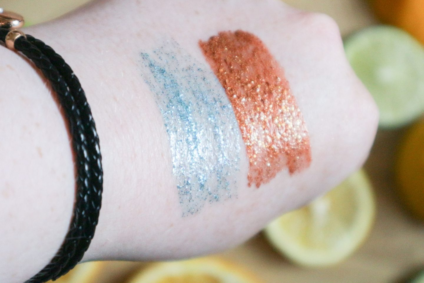 Too Faced Tutti Fruiti Twinkle Twinkle Liquid Glitter Eyeshadow swatches