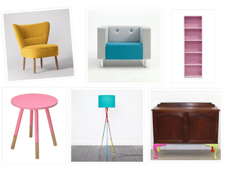 colourful furniture