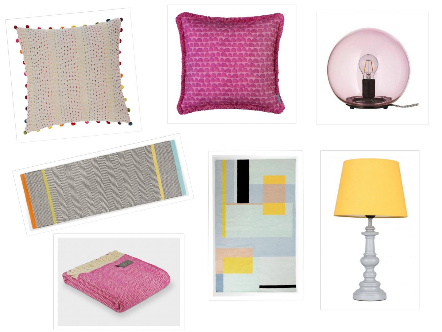 colourful home accessories