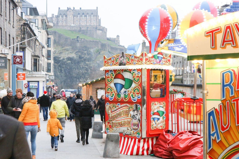 edinburgh christmas castle street