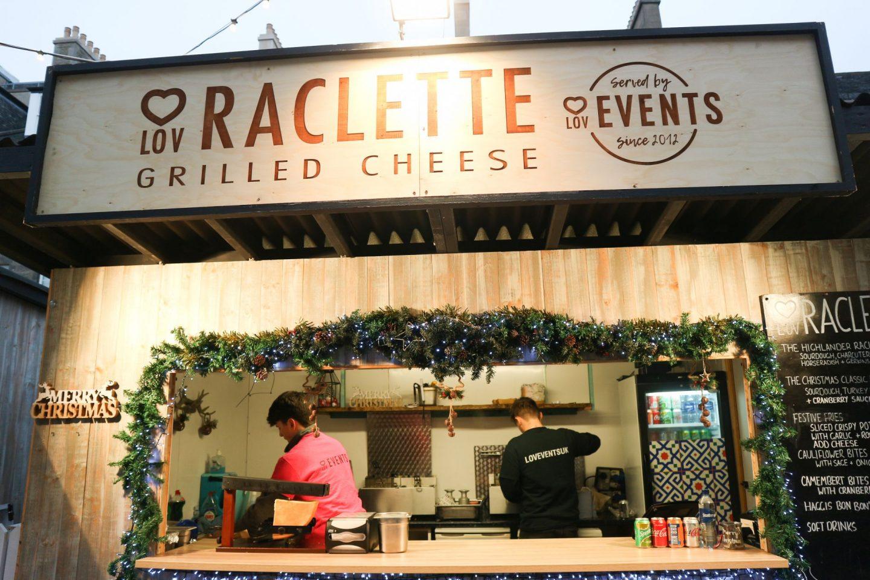 Lov Raclette Edinburgh Christmas Market