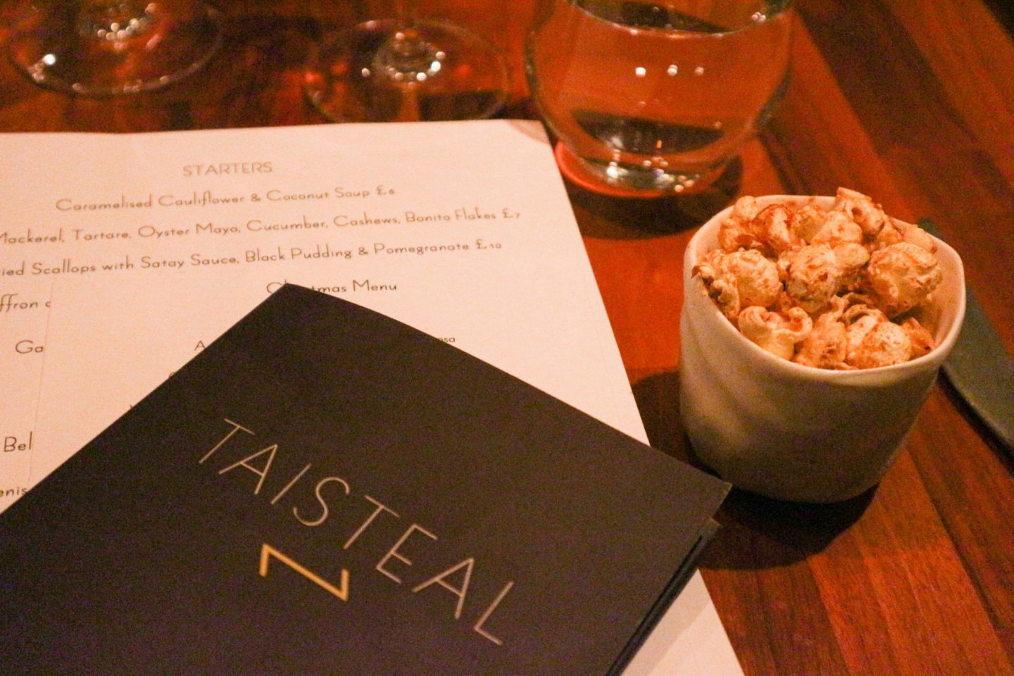 Taisteal restaurant Edinburgh